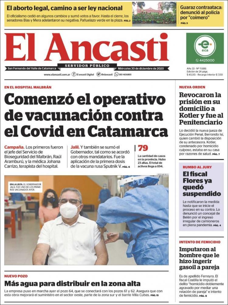 Van accediendo a la vacuna en hospitales