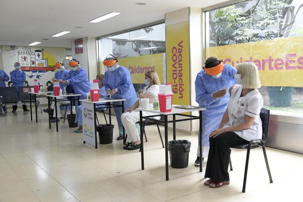 Coronavirus: comenzó la primera etapa de vacunación en el Hospital Argerich